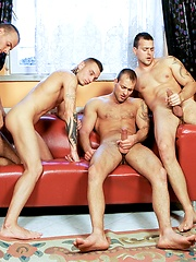 Jason Visconti, Jimmy Visconti and Joey Visconti in a foursome scene