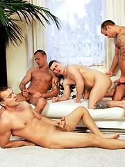 Jason Visconti, Jimmy Visconti and Joey Visconti in foursome fuck