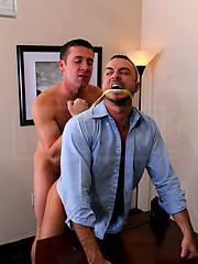 The Ringing Secretary - hairy muscle men fucking