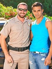 Vinny Castillo and Ray Diaz in a cock sucking scene