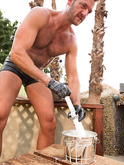 Anthony London and Jackson Lawless outdoor fisting
