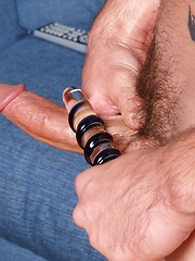 Richie Sabatini strokes his dick and toying ass