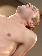Red hottie Logan Drake strokes dick