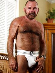 Hairy bear Ray Andrews naked