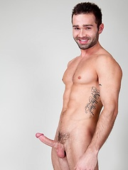 Drew Blaze strokes dick