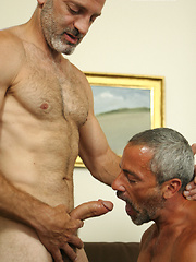 Old man gets hos ass fucked
