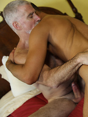 Sexy daddy Paul Barbaro fucking horny boy  Dane Caroggio