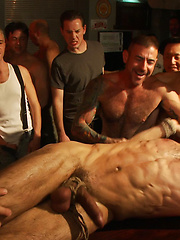 Use the stud's uncut cock as a shot glass at a public bar! Starring Josh West,DJ.