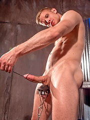 Tony Bishop plays with his cock