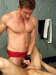 Connor Kline, Connor Maguire: a locker room fuck