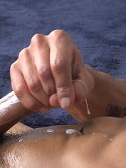 Rodrigo wanking off his dick