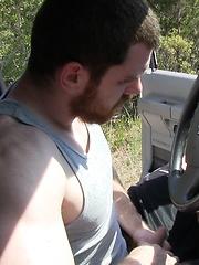 Bearded man Mac masturbates