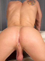 Hot jock Griffin wanking off his dick