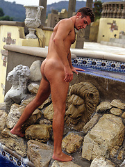 Hot euro hunk shows his cock and perfect hairy body