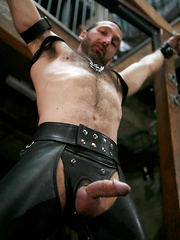 Xavier St. Jude in a leather gear