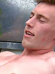 Straight Hunk Cameron - Has His 1st Manhandling - Dan Plugs Him with the Purple Dildo!