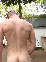 Straight Ozzie Rugby Hunk Cory Shows off his Muscular Body & Very Hard Uncut Cock!