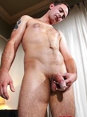 Darren Daley strokes his uncut dick