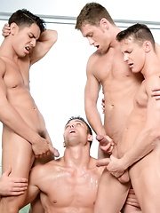 Muscle foursome - Connor Maguire, Ryan Rose, Lance Luciano & Darius Ferdynand