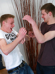 Straight Lad Action with Jack fucking Chris Roughly Til he Gushes a Massive Load!