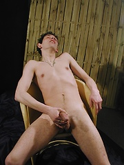 Smooth twink Luka with firm grip on his cock.