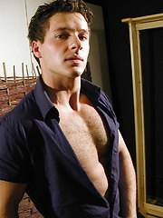 Sexy Christopher Kryll shows off his hairy chest.