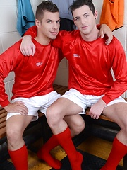 Big-Dicked Soccer Stud Gives His Team-Mate A Nine-Inch Hard Workout After The Game!