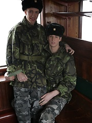 Uniforms: It's First-Class Travel All The Way As Benjamin Dunn Gives His Army Pal A Hard Raw Fuck!