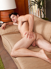 Hot stud Mario Bugatti plays with his cock
