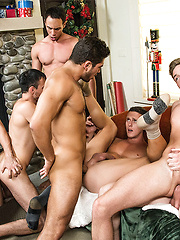 Dato Foland Gets A Gay Bareback Orgy For Christmas