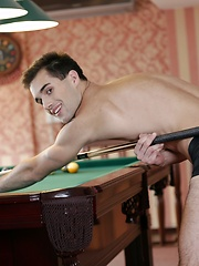 Dirty-Fuckers: Forget Billiards. These Two Studs Wanna Empty Their Balls Into Yuri Adamov's pockets!