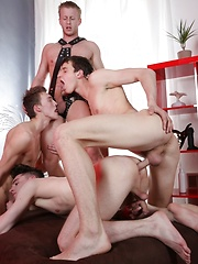 Dirty-Fuckers: Cute & Innocent? Not Fuckin' Likely, As Johny Cruz Gets Triple-Dicked & Covered In Cum!