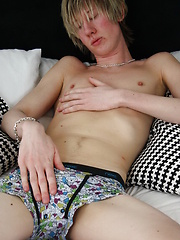 Hot emo boy Jonny Jazz plays with his cock