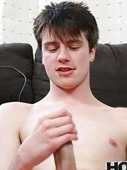 Danny Star blows his load allover his tummy