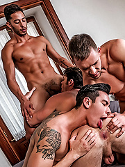 Devin Franco, Andrey Vic, Javi Velaro, Drae Axtell, Angel Cruz - Raw Double-penetration